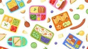Diferentes comidas vocabulario en inglés