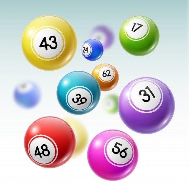 Bolas con números en alemán